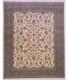 RugStudio presents Lotfy and Sons Narmada 320 Ivory/Light Blue Hand-Knotted, Best Quality Area Rug